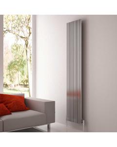 Monza - Oxidised Aluminium Vertical Radiator H1800mm x W375mm Single Panel