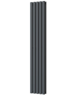 Omeara - Anthracite Vertical Radiator H1600mm x W290mm Double Panel