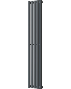 Omeara - Anthracite Vertical Radiator H1600mm x W290mm Single Panel