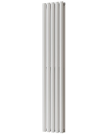 Omeara - White Vertical Radiator H1600mm x W290mm Double Panel