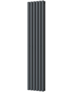 Omeara - Anthracite Vertical Radiator H1600mm x W348mm Double Panel