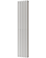 Omeara - White Vertical Radiator H1600mm x W348mm Double Panel