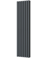 Omeara - Anthracite Vertical Radiator H1600mm x W406mm Double Panel