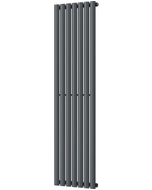 Omeara - Anthracite Vertical Radiator H1600mm x W406mm Single Panel