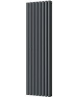 Omeara - Anthracite Vertical Radiator H1600mm x W464mm Double Panel