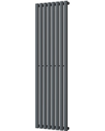 Omeara - Anthracite Vertical Radiator H1600mm x W464mm Single Panel