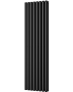 Omeara - Black Vertical Radiator H1600mm x W464mm Double Panel