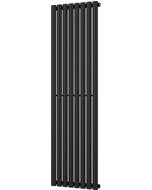 Omeara - Black Vertical Radiator H1600mm x W464mm Single Panel
