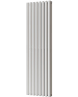 Omeara - White Vertical Radiator H1600mm x W464mm Double Panel