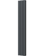 Omeara - Anthracite Vertical Radiator H1800mm x W290mm Double Panel