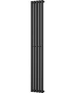 Omeara - Black Vertical Radiator H1800mm x W290mm Single Panel