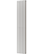 Omeara - White Vertical Radiator H1800mm x W348mm Double Panel