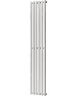 Omeara - White Vertical Radiator H1800mm x W348mm Single Panel