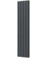 Omeara - Anthracite Vertical Radiator H1800mm x W406mm Double Panel