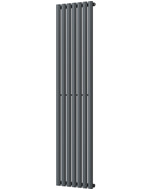 Omeara - Anthracite Vertical Radiator H1800mm x W406mm Single Panel