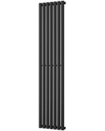 Omeara - Black Vertical Radiator H1800mm x W406mm Single Panel