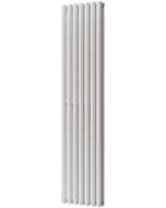 Omeara - White Vertical Radiator H1800mm x W406mm Double Panel