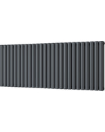 Omeara - Anthracite Horizontal Radiator H600mm x W1508mm Double Panel