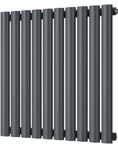Omeara - Anthracite Horizontal Radiator H600mm x W580mm Single Panel