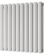 Omeara - White Horizontal Radiator H600mm x W580mm Double Panel
