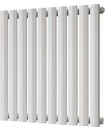 Omeara - White Horizontal Radiator H600mm x W580mm Single Panel