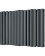 Omeara - Anthracite Horizontal Radiator H600mm x W812mm Double Panel