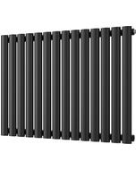 Omeara - Black Horizontal Radiator H600mm x W812mm Single Panel