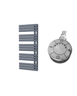 Percival - Anthracite Electric Towel Rail H1120mm x W500mm 600w Thermostatic