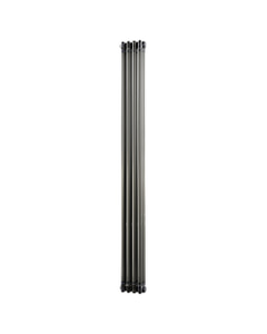 Alpha - Raw Metal Vertical Column Radiator H1800mm x W198mm 3 Column