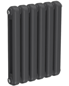 Coneva - Anthracite Column Radiator H550mm x W440mm 6 Sections