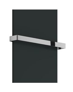 Slimline - Radiator Towel Bar Flat Straight Chrome 400mm