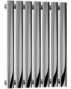 Nerox - Stainless Steel Horizontal Radiator H600mm x W413mm Single Panel - Polished