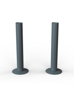 Talus - Anthracite Matte Pipe Covers 130mm