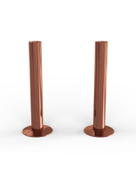 Talus - Copper Polished Pipe Covers 130mm
