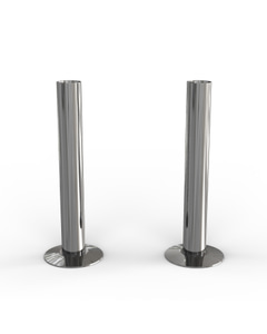 Talus - Chrome Polished Pipe Covers 130mm