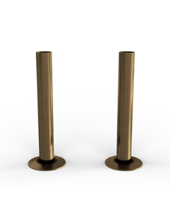 Talus - Antique Brass Brushed Pipe Covers 130mm