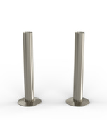 Talus - Silver Nickel Brushed Pipe Covers 130mm