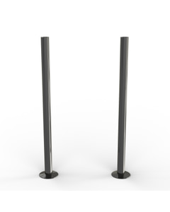Talus - Black Nickel Polished Pipe Covers 300mm