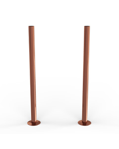 Talus - Copper Polished Pipe Covers 300mm