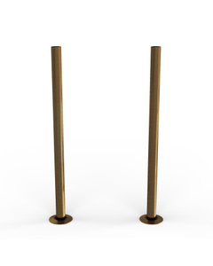 Talus - Antique Brass Brushed Pipe Covers 300mm