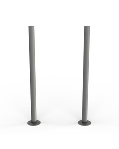 Talus - Natural Pewter Matte Pipe Covers 300mm