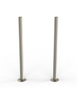 Talus - Silver Nickel Brushed Pipe Covers 300mm