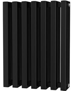 Temple - Black Square Tube Column Radiator H600mm x W458mm