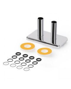 Integrated - Chrome Polished Pipe Covers - 50mm