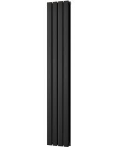 Typhoon - Black Vertical Radiator H1600mm x W272mm Double Panel