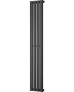 Typhoon - Black Vertical Radiator H1600mm x W272mm Single Panel