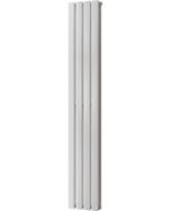 Typhoon - White Vertical Radiator H1600mm x W272mm Double Panel
