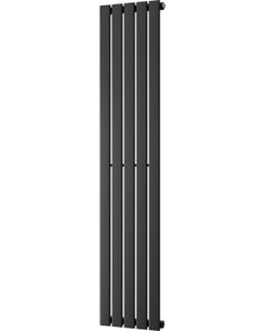 Typhoon - Black Vertical Radiator H1600mm x W340mm Single Panel