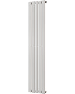 Typhoon - White Vertical Radiator H1600mm x W340mm Single Panel