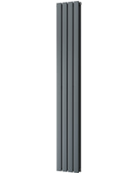 Typhoon - Anthracite Vertical Radiator H1800mm x W272mm Double Panel